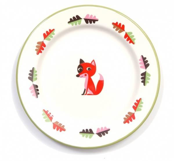 Bilde av Emalje-tallerken: FOX