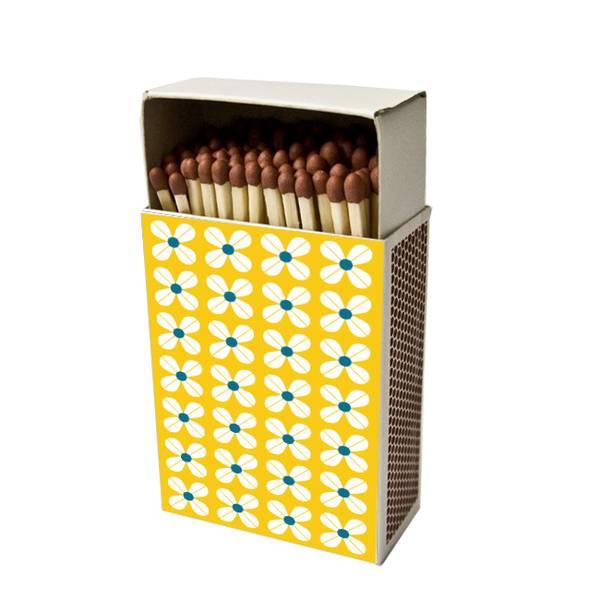 Bilde av Fyrstikkeske, gult mønster